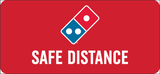 Floorboard Safe Distance Decal 5-Pack