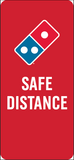 Floorboard Safe Distance Decal 20-Pack