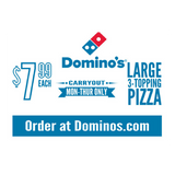 """$7.99 Large 3-Topping Pizza"" Banner"