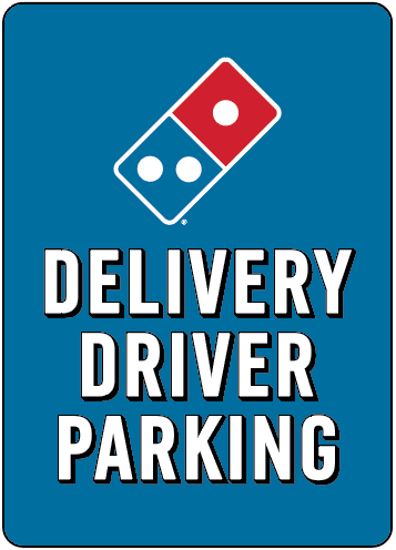 Delivery Driver Parking - Parking Lot Pole Signs