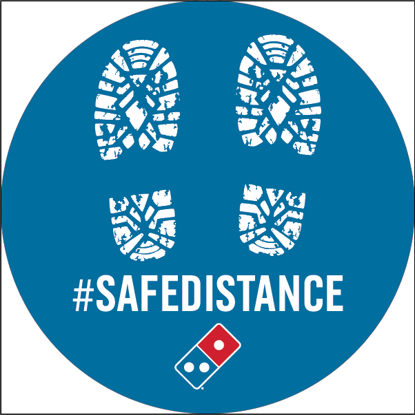 SAFE DISTANCE - CIRCLE FLOOR DECAL