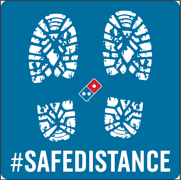 SAFE DISTANCE - SQUARE FLOOR DECAL