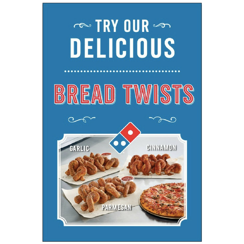 Delicious Blue Bread Twists Window Cling