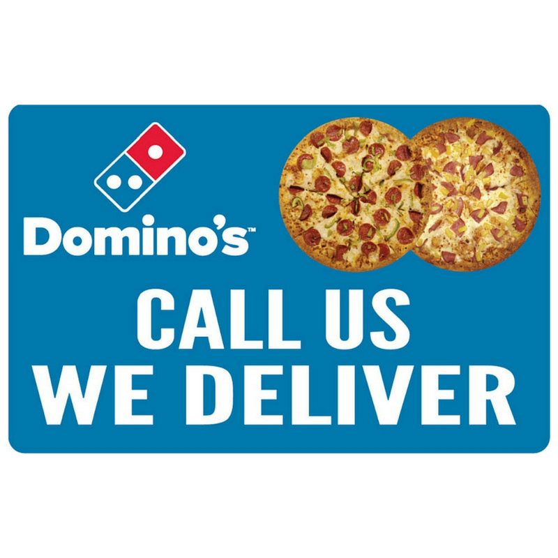 """Call Us, We Deliver"" Double Pizza 2'x3' Wobble Board"