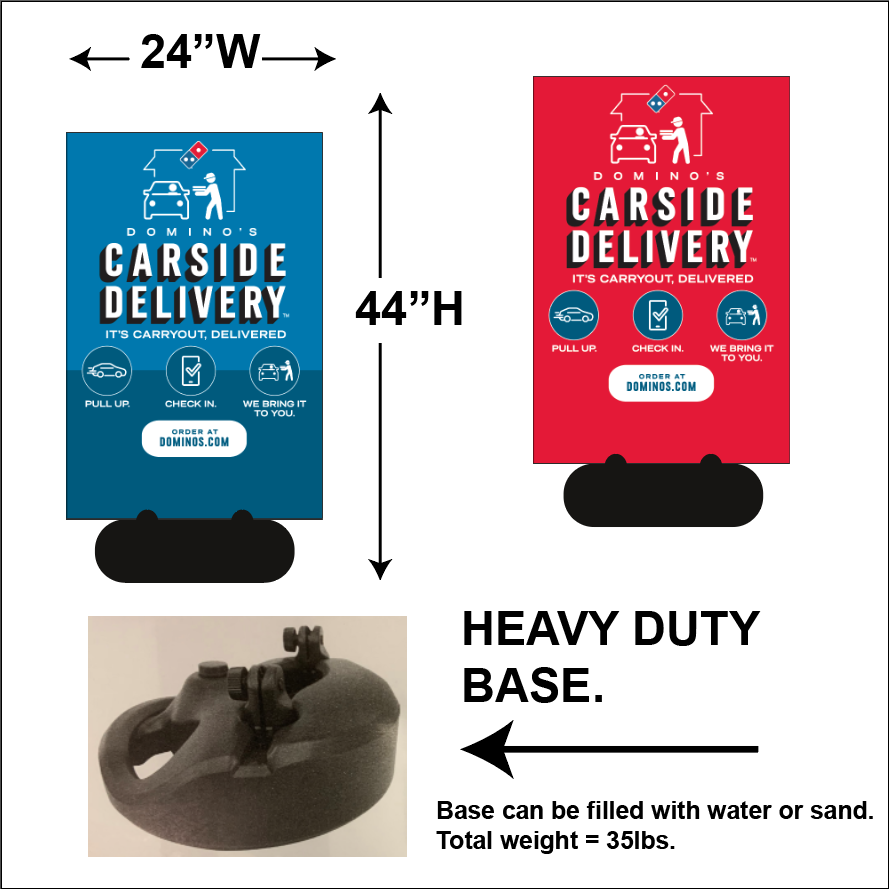 """CARSIDE DELIVERY"" SIDEWALK SIGNS - WITH INSTRUCTIONS"