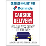 CARSIDE DELIVERY WINDOW CLINGS - With App Info