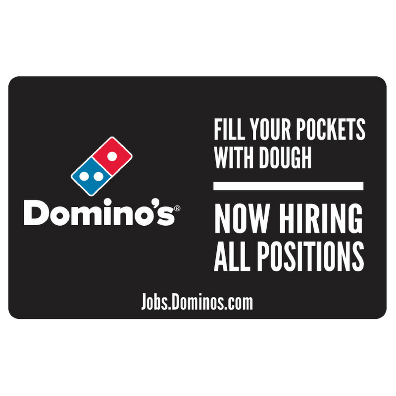 "11x17 ""Now Hiring All Positions"" Counter Mat 4-Pack"