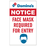 "SINGLE-SIDED ""Face Mask Required"" Graphic"