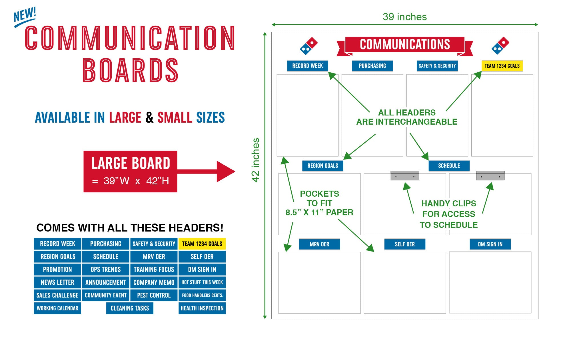 Large Communication Board
