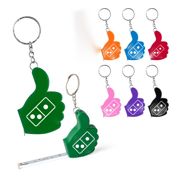 Thumbs Up Measuring Tape Keychain