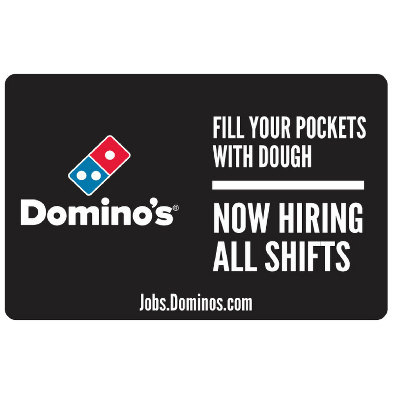 "12x18 ""Now Hiring All Shifts"" Counter Mat 4-Pack"