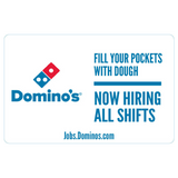 "11x17 ""Now Hiring All Shifts"" Counter Mat 4-Pack"