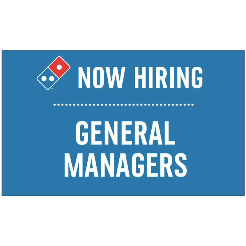 """Now Hiring General Managers"" Banner"