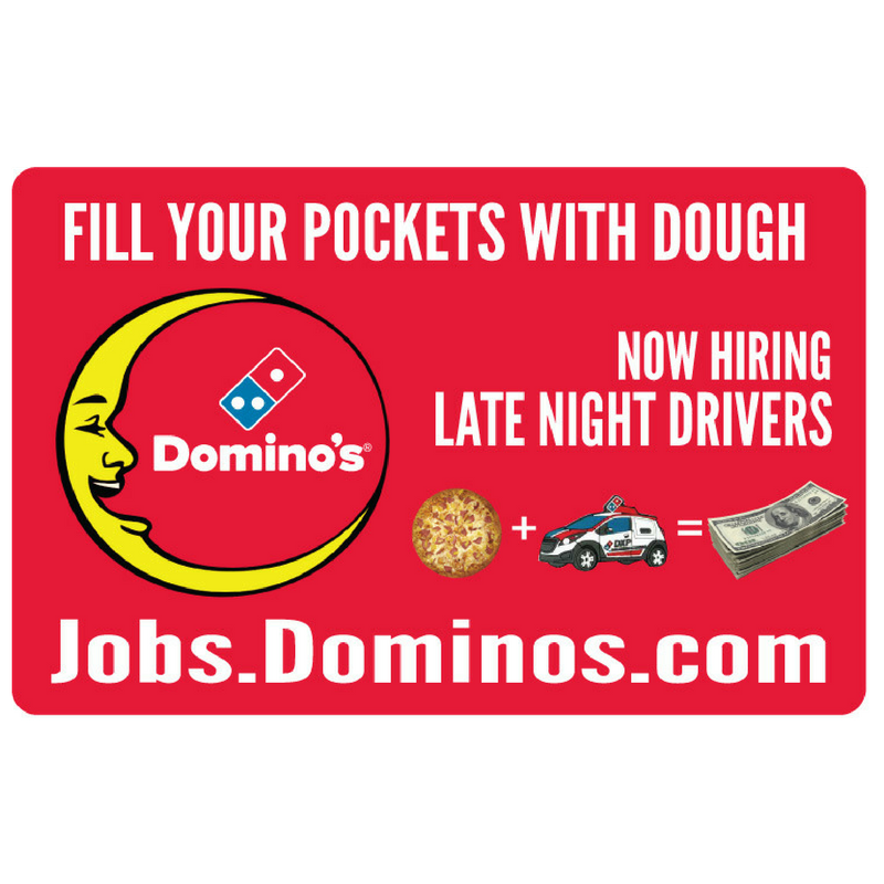 "10x15 ""Now Hiring Late Night Drivers"" Counter Mat 4-Pack"