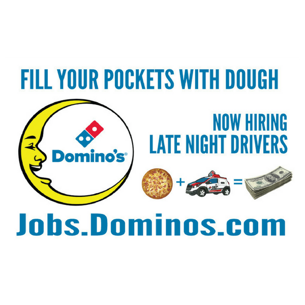 11x17 Quot Now Hiring Late Night Drivers Quot Counter Mat 4 Pack