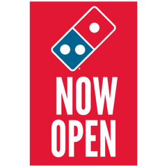 """Now Open"" Window Cling"