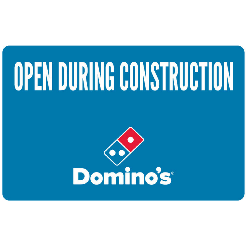 """Open During Construction"" Yard Sign"