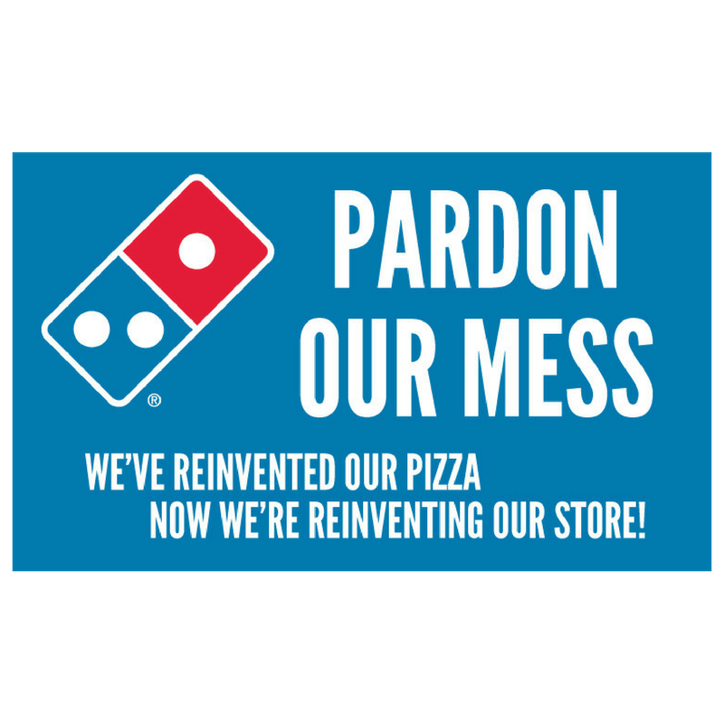 """Pardon Our Mess"" Banner"