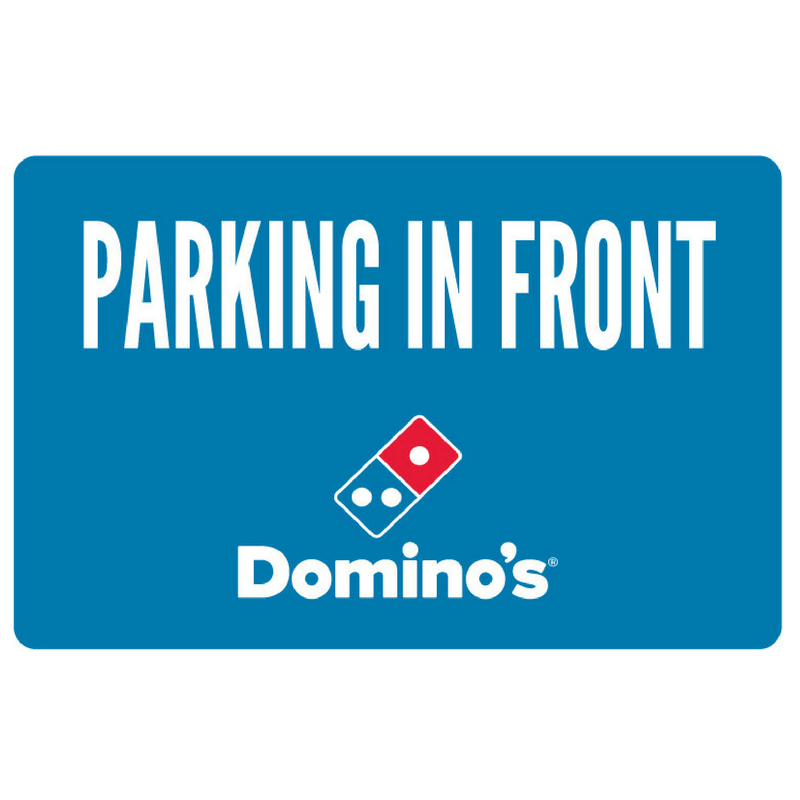 """Parking In Front"" Banner"