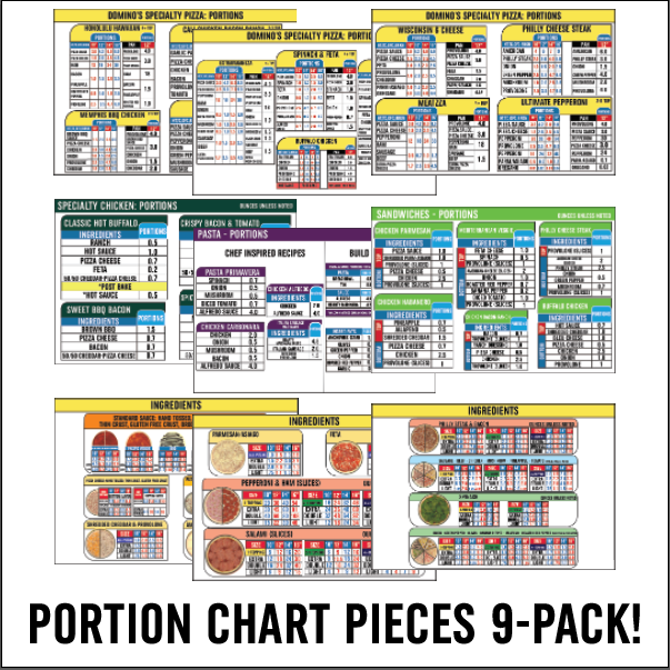 Portion Chart 9-Piece Pack