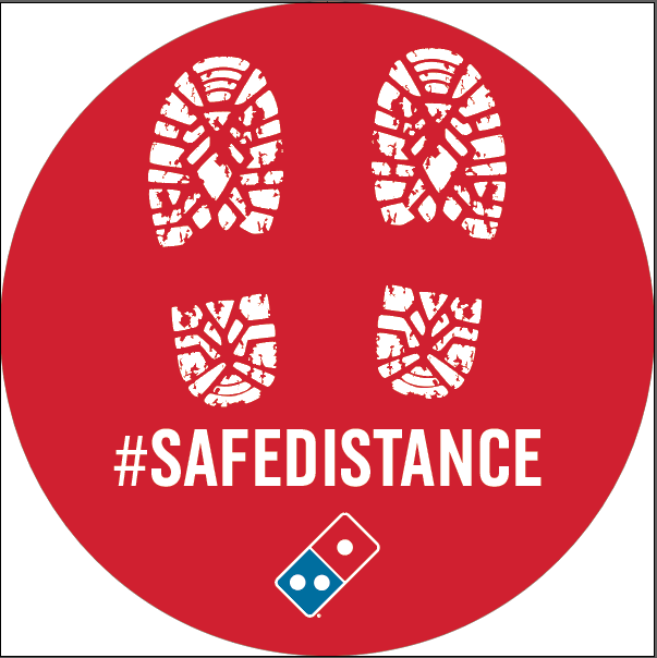Safe Distance Decal 20-Pack