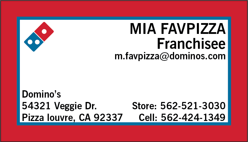 Red Frame Custom Business Cards