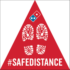 SAFE DISTANCE - TRIANGLE FLOOR DECAL