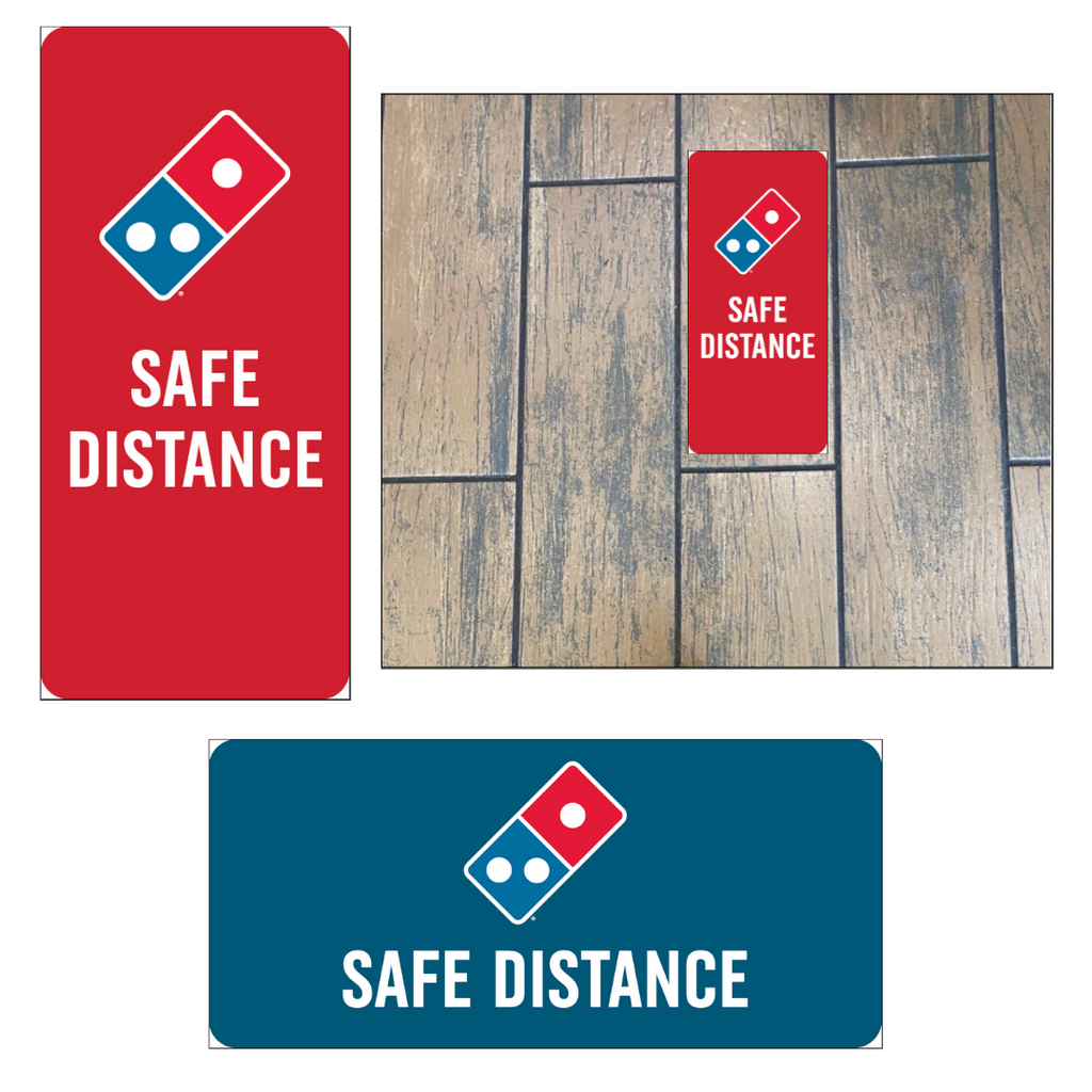 Floorboard Safe Distance Decal 10-Pack