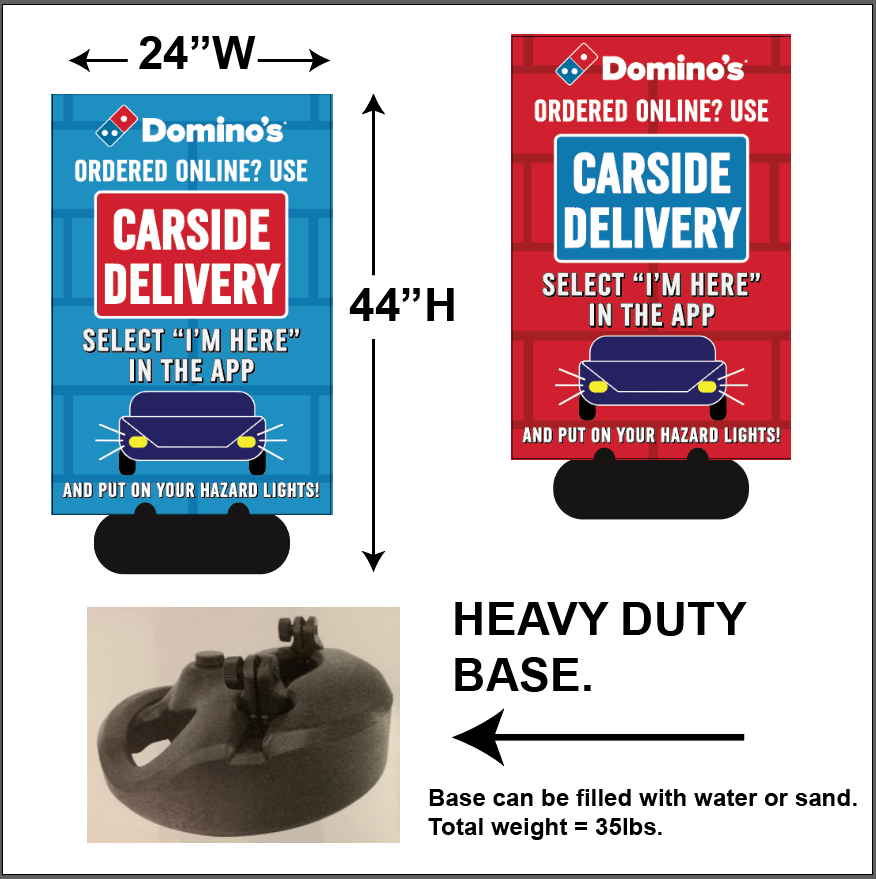 """CARSIDE DELIVERY"" SIDEWALK SIGNS"