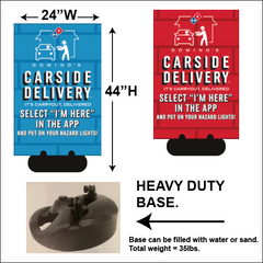 """CARSIDE DELIVERY"" SIDEWALK SIGNS - WITH NEW LOGO"