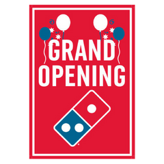 """Grand Opening"" Balloons Window Cling"