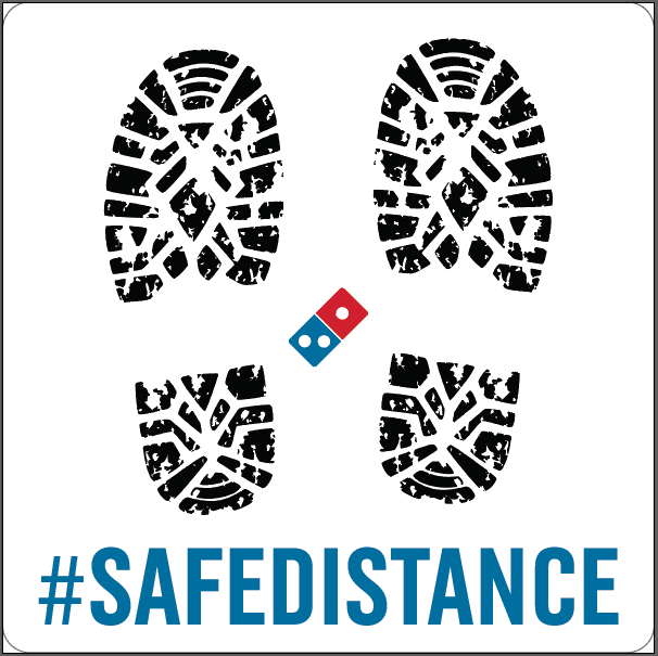 Safe Distance Decal 10-Pack