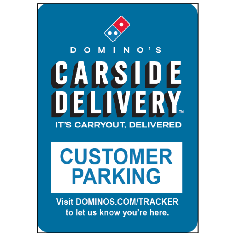 Carside Delivery - Customer Parking - Parking Lot Pole Sign - 10 x 14