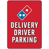 Delivery Driver Parking - Parking Lot Pole Signs - 10 x 14