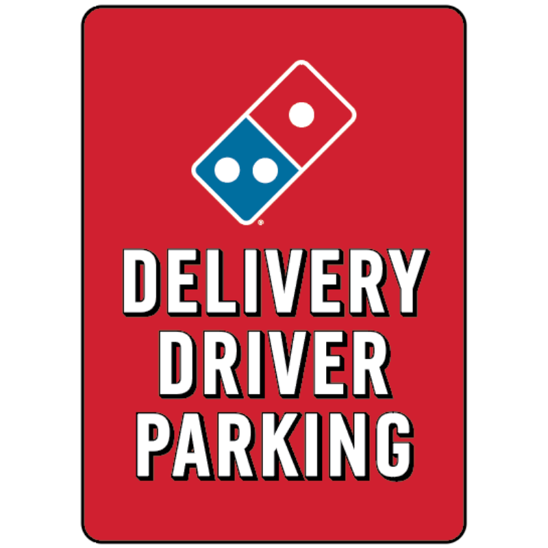 Delivery Driver Parking - Parking Lot Pole Signs - 7 x 10