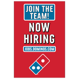 Join The Team! Now Hiring - Window Cling