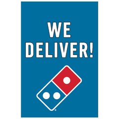 """We Deliver!"" Window Cling"