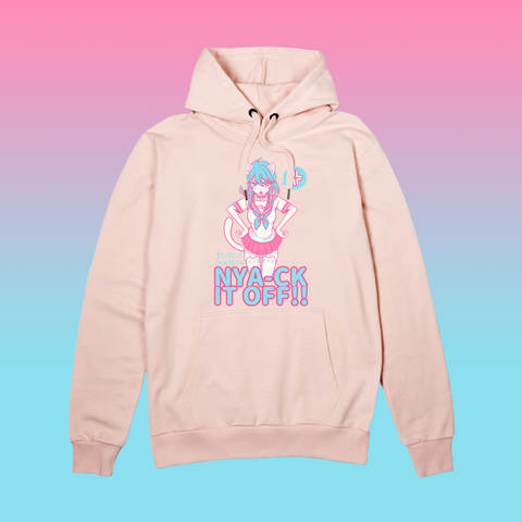 Elite Society Nya-ck It Off! Cat Girl Anime Pink Hoodie