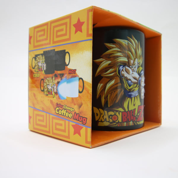 Dragon Ball Z Color Change Coffee Mug Goku SS3 Kamehameha