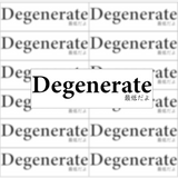 Degenerate Vinyl Sticker