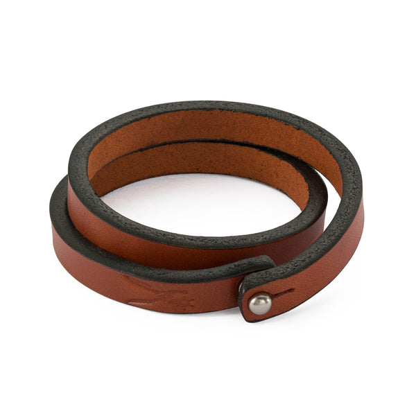 Chestnut Double Wrap Bracelet