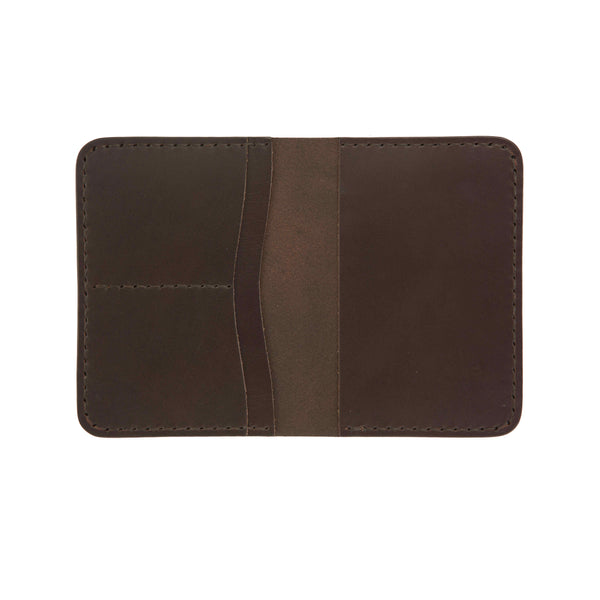 Classic Dark Brown Passport Wallet