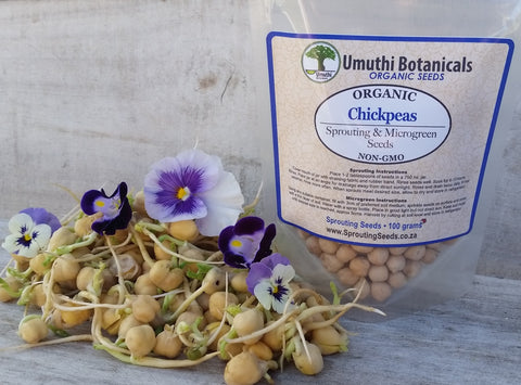 Organic Chickpeas Sprouting Seeds - 100g