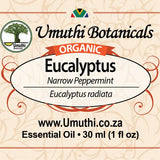 ORGANIC EUCALYPTUS Narrow Peppermint 30 ml label
