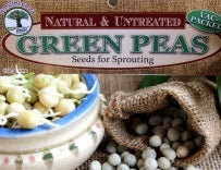 GREEN PEAS - Sprouting Seeds - Natureal & Untreated - Microgreens