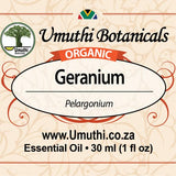 Organic Geranium Pelargonium 30 ml label