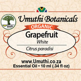 Organic grapefruit citrus paradisi 10ml label
