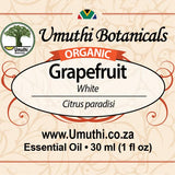 Organic grapefruit citrus paradisi 30ml label
