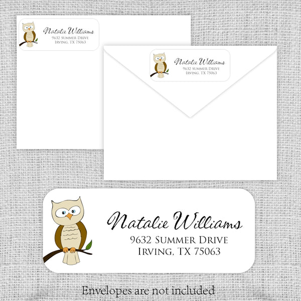 Brown Owl Return Address Labels