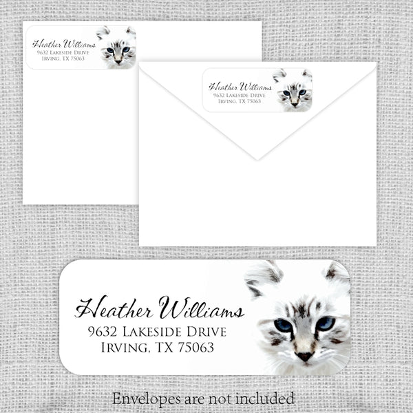 Cat Lovers Return Address Labels